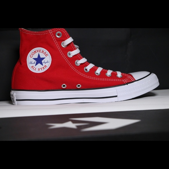 6d1b8aed0747 Converse Classic Red All Star High Tops